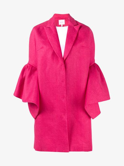 Delpozo Bell Sleeve Single Breasted Coat