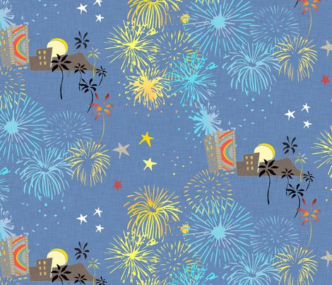 Friday Night Fireworks fabric by mariden on Spoonflower - custom fabric