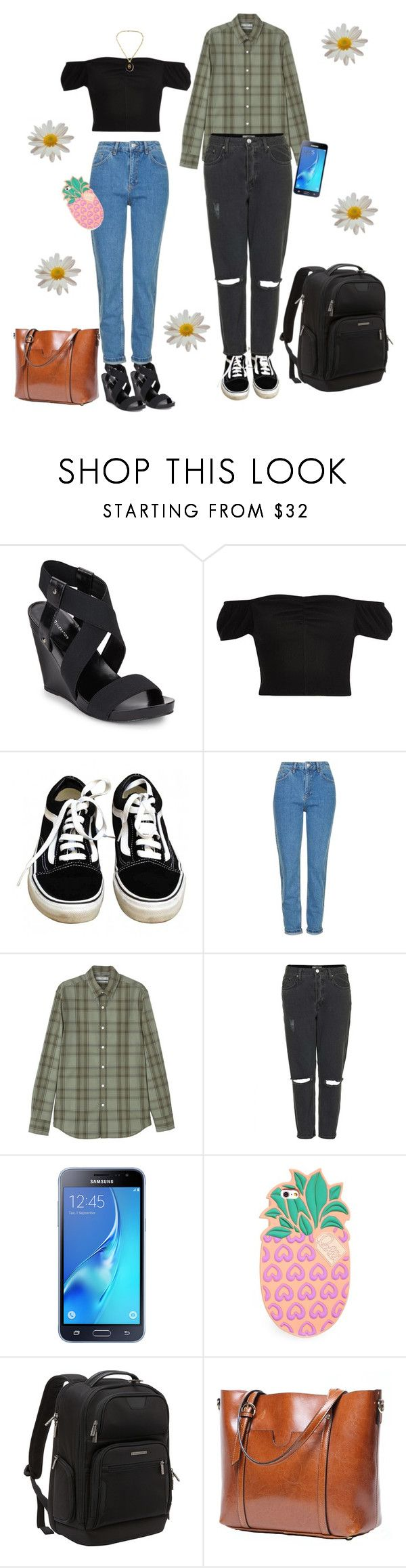 """Just a Couple of Kids out in Town"" by owlenstar on Polyvore featuring BCBGeneration, River Island, Vans, Topshop, MANGO MAN, Samsung, Lolli Swim and Briggs & Riley"