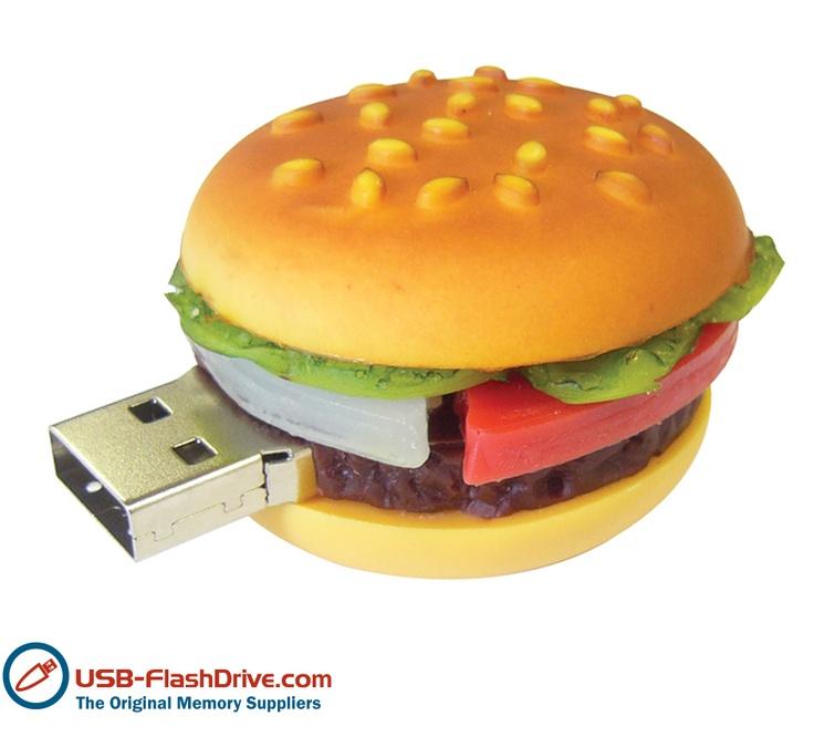 Hamburger shaped USB Flash Drive - looks good enough to eat!