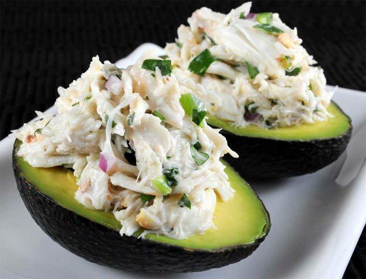 Avocado Crab Meat Salad  #justeatrealfood #tasteofhomel