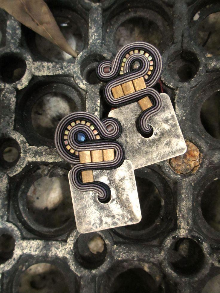 Dusk clip on earrings by Dori Csengeri #DoriCsengeri