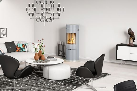 RAIS Viva L 120  #woodburning #stove. Choose among: #colours #sideglass, #topplates #swivelbase #heataccumulation #handle - pleanty of different choices to fit your own #interior #deocoration