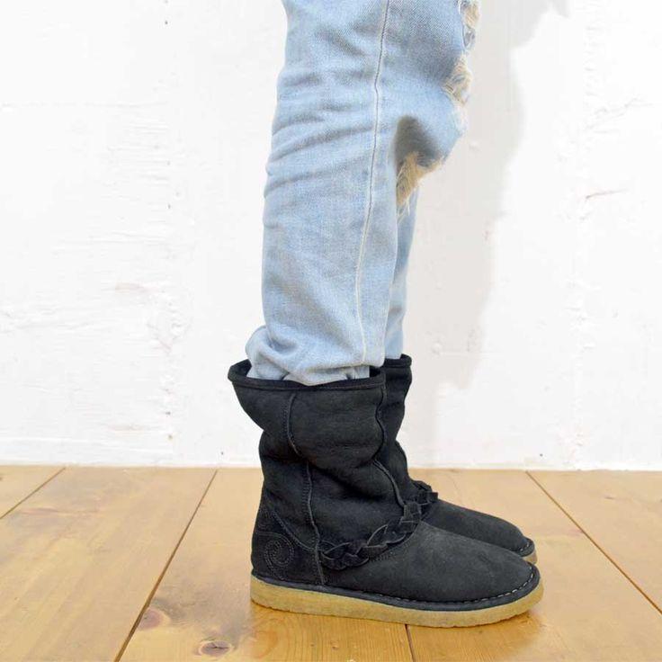 SECCHIARI MICHELE / AGIO35 model Black color ムートンブーツ facebook https://www.facebook.com/comfyseed   Web site http://item.rakuten.co.jp/comf-y/secchiarilong/