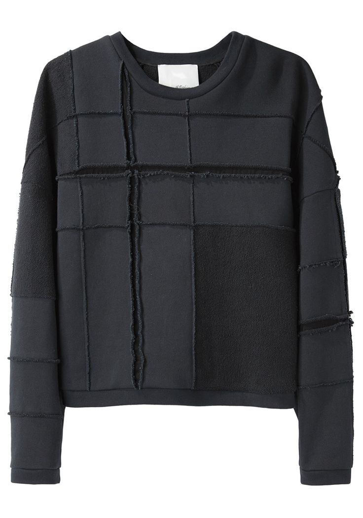 Love a fancy patterned sweatshirt.  No logos. 3.1 Phillip Lim / Tromp L'Oeil Plaid Sweatshirt