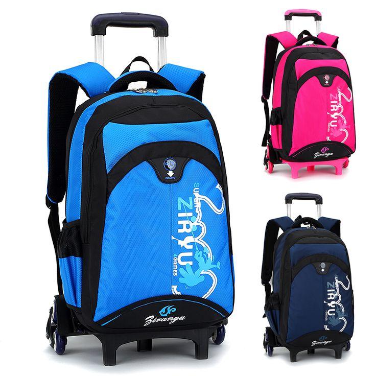 Kids Rolling Backpack Casual School Backpacks Primary School Bags For Girls Bolsa Infantil Bookbags Mochilas Escolares Backbag #Affiliate