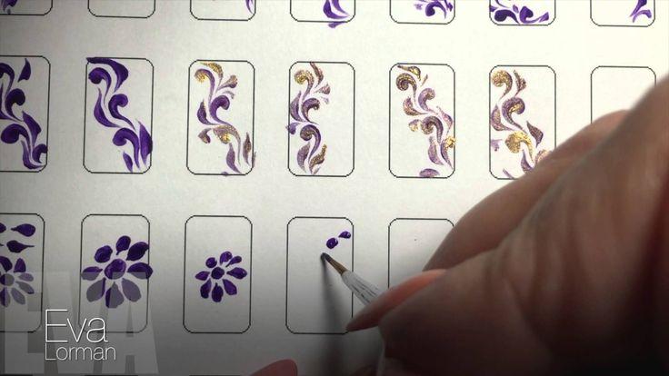 Роспись ногтей! Ромашка! Урок 8! Все Видео уроки!