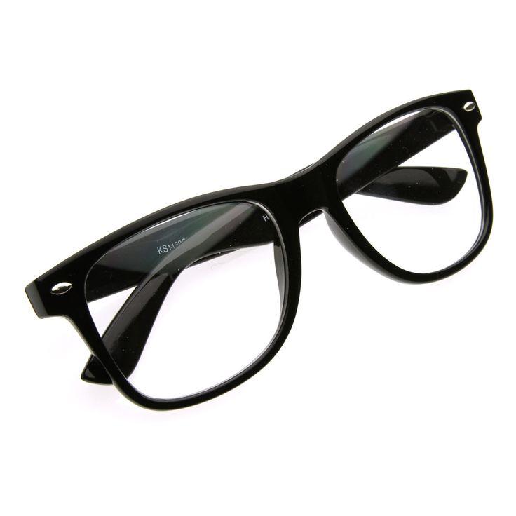 FashionCoolture: RETRO CLEAR LENS NERD GEEK WAYFARER GLASSES 2873