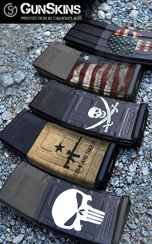 a variety of Specialty Mag Skins for your AR-15/M4 Mags only at #gunskins