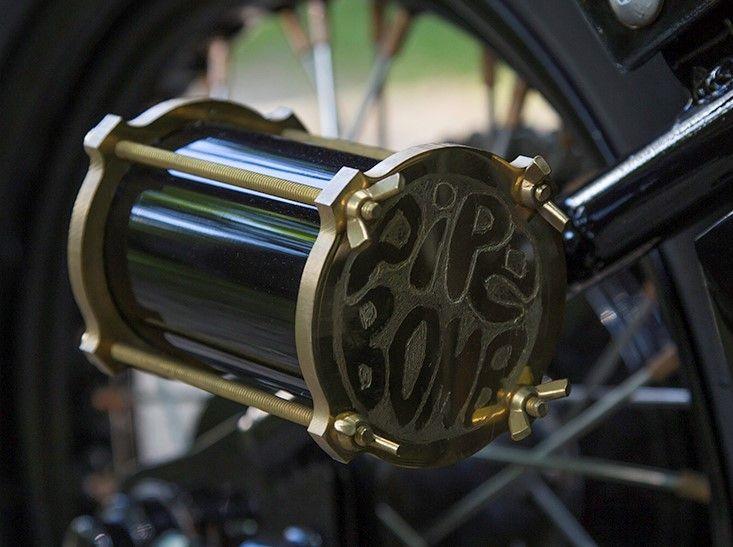 Brass tail light made for a 1968 BSA #custommotorcycles #BSA #Brass