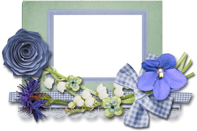 Free Printable Frames with Cute Flowers.