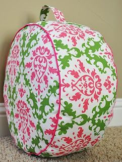 So Cute! and useful!! Tutorial on how to make this kid-sized pouf from Living With Punks