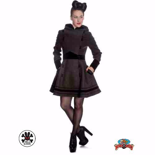 """Sofia Coat in Grey by Hell Bunny is very chic, comfy and classy!   #Grey #AutumnFashionforWomen #AutumnFashionIdeas #AutumnFahion #Coat #HellBunny #RuffnReadyAus #chic #comfy #classy"""""""