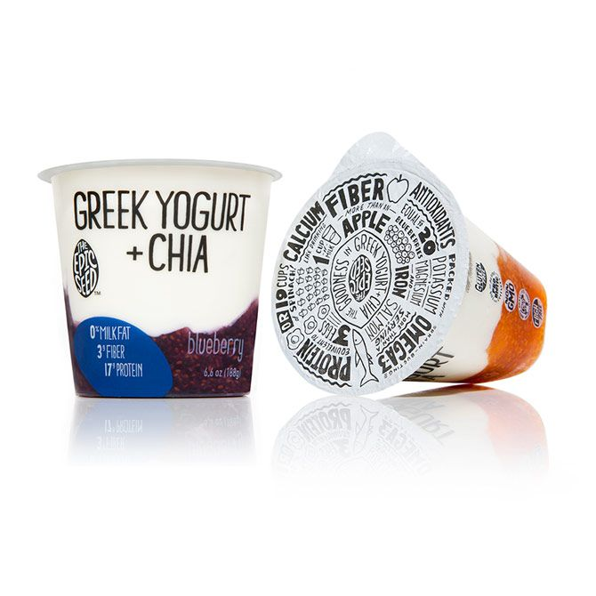 Epic Seed yoghurt packaging with hand drawn typographic detail designed by Little Big Brands.