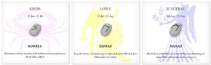 Runen Tageshoroskop 6.3.2017 #Sternzeichen #Runen #Horoskope #krebs #löwe #jungfrau