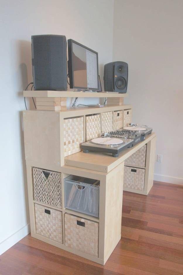 17 Best Ideas About Dj Table On Pinterest Dj Booth Dj Stand And Regarding Meuble Dj Design Diy Standing Desk Kallax Ikea Ikea Standing Desk