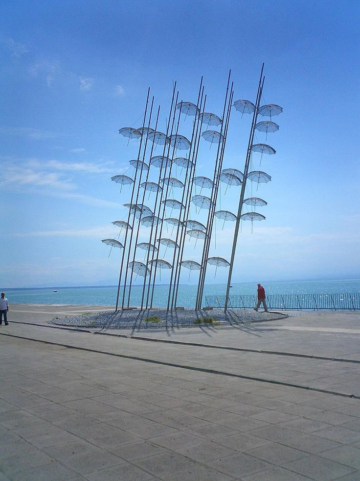 The floating umbrellas, Thessaloniki, Greece