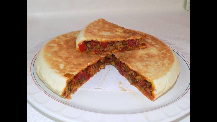 فطيرة تركية بدون فرن / خبز محشي في المقلاة