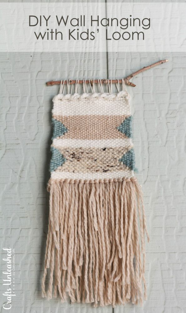 diy woven wall hanging with a kids loom