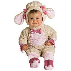 Rubie's Costume Baby girls Infant Noah Ark Collection Lucky Lil Lamb Costume, Beige/Pink, Photo Prop