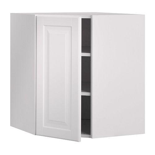 Akurum wall corner cabinet ikea you can customize spacing for Corner cabinets ikea