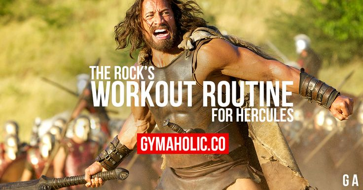Train and eat like Dwayne The Rock Johnson. For the movie Hercules, The Rock brought his workout routine and his nutrition to another level!