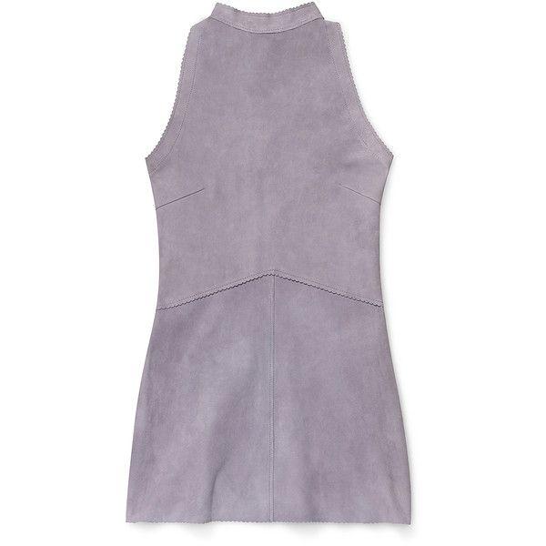 Rebecca Minkoff Cardamon Dress found on Polyvore featuring dresses, studded bag, studded purse, purple bag, purple purse and studded handbags