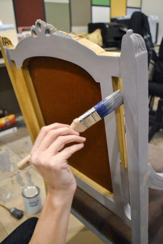 Hometalk :: Schilderen Bekleed Stof van ENL stoel ontmoette Krijt Paint®