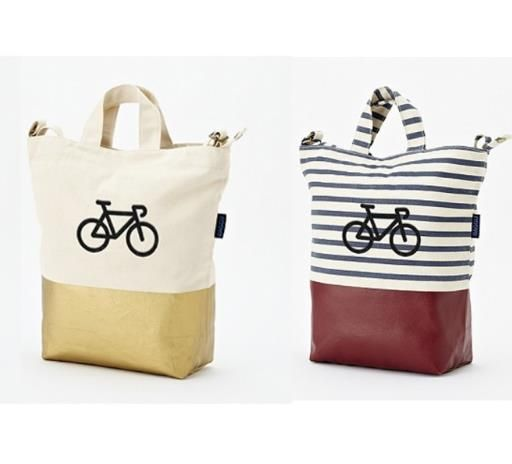 Baggu Bicycle Monogram Totes at West Elm