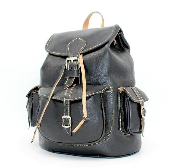 Black leather backpack black leather laptop backpacksac a