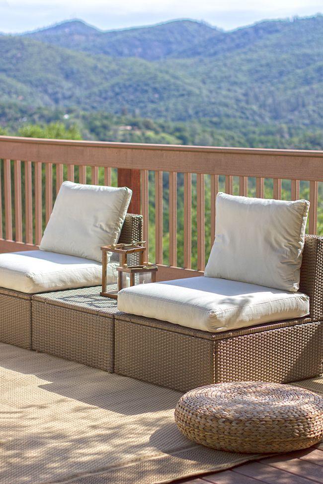 Our Outdoor Oasis: Ikeau0027s ARHOLMA set - nice arrangement to keep things  feeling open,