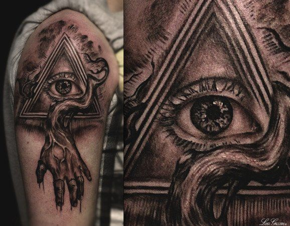 Illuminati Eye Tattoo Meaning Illuminati eye by Vale...