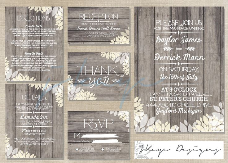 DIY Printable Wedding Invitation: Rustic- The Christine
