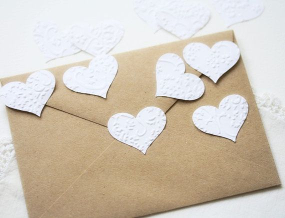 Wedding Stickers Seals Hearts  -  24 Embossed White French Lace Elegant Seals For Envelopes Gift Wrap Favor Bags on Etsy, $9.73 AUD