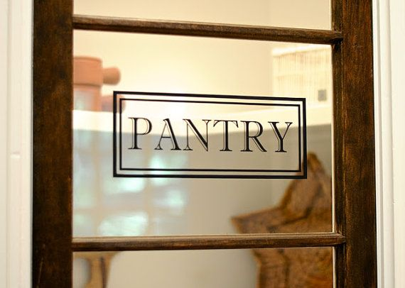 pantry vinyl decal pantry door decal glass door decal vinyl lettering rectangle border fame decal traditional decor