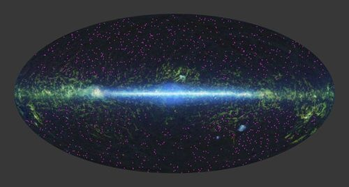 A full-sky survey by Nasa's wide-field Wise telescope turned up about 1,000 hot, dust-obscured galaxies, each of which emit as much light as 100 trillion sun-like stars. The objects are rare, accounting for about one in 100,000 light sources, and difficult to find since most of their energy is masked by dust. Astronomers believe the objects, which are twice as warm as similar galaxies, may be a transitional state. www.afortuneonwheels.com