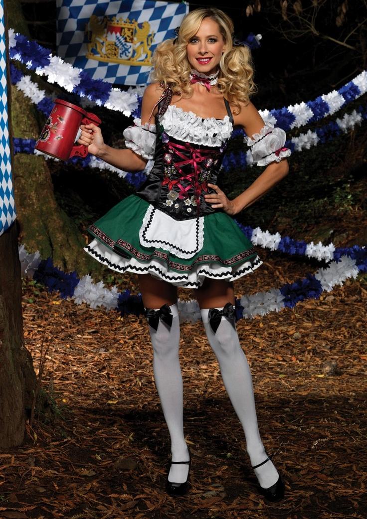 Traditional German Girl Oktoberfest Dirndl Fancy Dress Costume