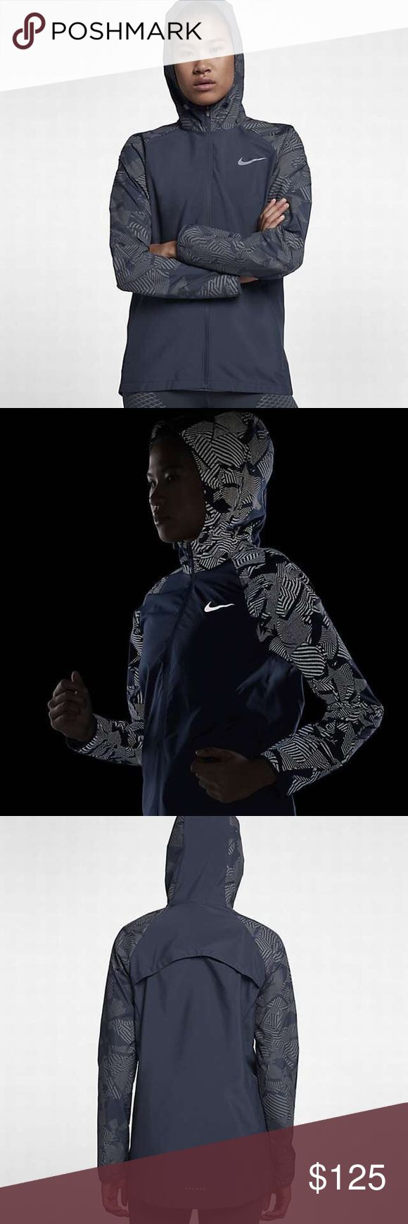 Nike Essential Flash Women's Running Jacket NWT Nike Essential Flash Women's Running Jacket Thunder Blue size small Nike Jackets & Coats