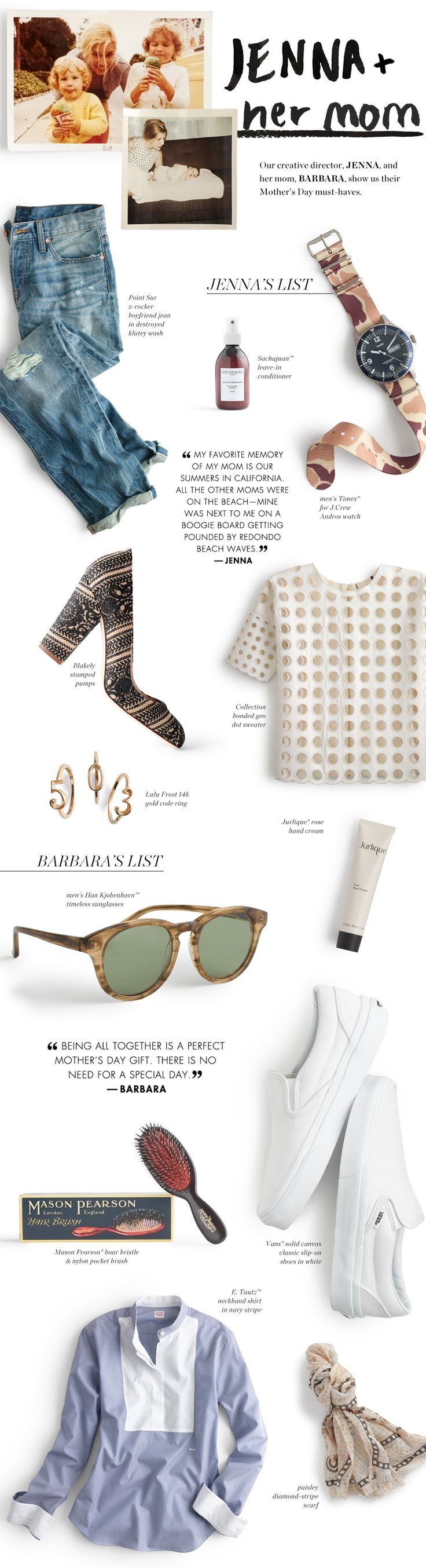 Mother's Day Gifts for Mom via J.Crew