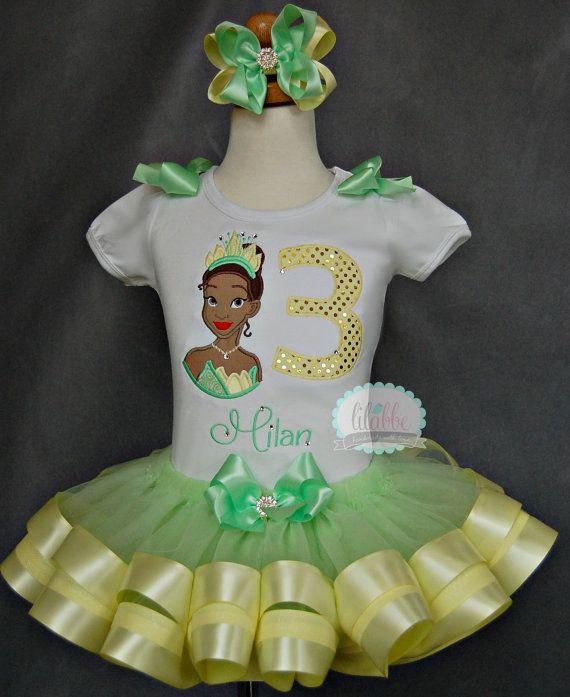 Princess Tiana Princess and the Frog Tutu by lilabbehandmade, $69.99