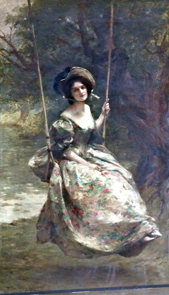 The Swing by Samuel Melton Fisher, 1908 BBC - Your Paintings