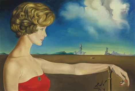 Salvador Dalí, Jeune femme dans un paysage, 1959 on ArtStack #salvador-dali-1 #art