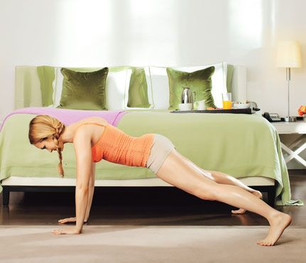 At home workout with no equipment needed.