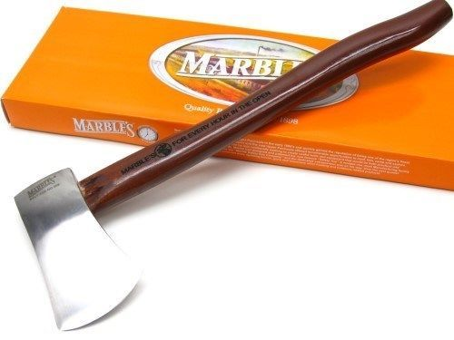 Marbles Brown Wood No 9 Straight Stainless 14 75 Axe Hatchet Sheath Mr9 Axe Marble Brown Wood