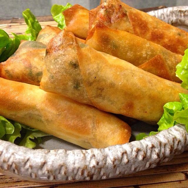 シンプルな味付けなんですが、具にしっかり味がついて美味しいんです(*^^*) 具はアレンジがききますので、いつも多めに作ります。 水切りしたお豆腐に合わせて、中華風がんもにもします - 112件のもぐもぐ - うちの春巻き(*^^*) by yuinori
