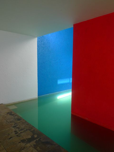 Casa Gilardi by Luis Barragan- dining room and swimming pool, photo by pov_steve via Flickr.