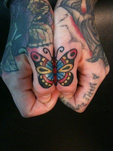 Cool Finger Tattoos!!  Finger tattoo, butterfly, thumb tattoo, small tattoo