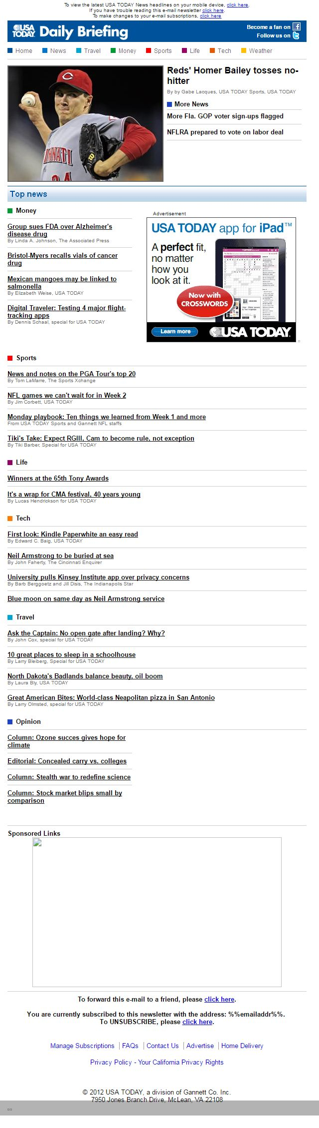 Newsletter USA Today