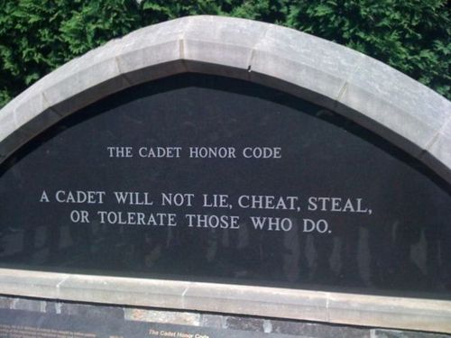 one of the many reasons I love him.. The Honor Code at West Point