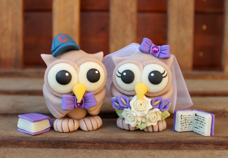Owls bride and groom with books, perfect cake topper for book lovers!https://www.etsy.com/listing/102632790/wedding-custom-cake-topper-book-cake?ref=shop_home_active_10
